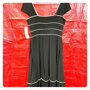 NWT Maggie London black and white dress